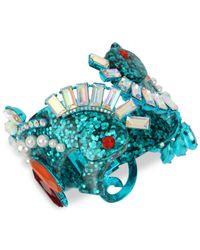 Betsey Johnson - Blue Seahorse Hinge Bracelet - Lyst