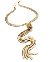 INC International Concepts | Metallic Silver-tone Multi-chain Knot Y Necklace | Lyst