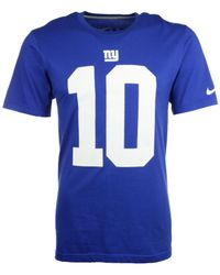 Nike - Blue Eli Manning New York Giants Pride Player T-shirt for Men - Lyst