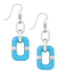 Charter Club - Blue Resin Rectangular Drop Earrings - Lyst