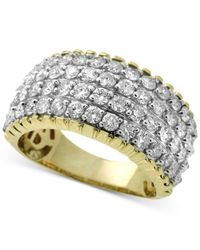 Macy's - Metallic Diamond Multi-row Ring (2 Ct. T.w.) In 14k Gold - Lyst