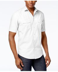 Alfani | Black Warren Solid Textured Shirt for Men | Lyst