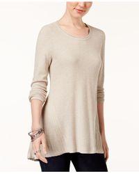 Style & Co. - Natural Peplum-back Tunic Sweater - Lyst