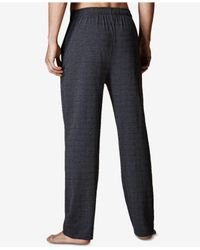 Lacoste - Gray Men's Logo-print Cotton Pajama Pants for Men - Lyst