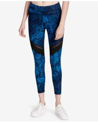 CALVIN KLEIN 205W39NYC - Blue Printed High-waist Ankle Leggings - Lyst