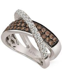 Le Vian - Metallic Diamond Crisscross Ring (1-1/8 Ct. T.w.) In 14k White Gold - Lyst