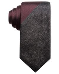 Alfani - Black Panel Slim Tie, Created For Macy's for Men - Lyst