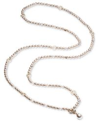 Carolee - Brown-tone Pavé Bead & Colored Imitation Pearl Convertible Strand Necklace - Lyst