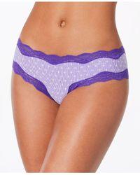 Calvin Klein - Purple Coquette Micro Hipster Cheeky Qd3538 - Lyst