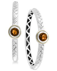 Effy Collection - Metallic Citrine Hoop Earrings (1-9/10 Ct. T.w.) In Sterling Silver & 18k Gold - Lyst