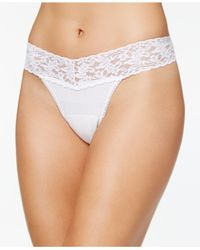 Hanky Panky - White Low-rise Lace Thong 891581 - Lyst