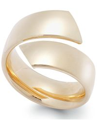 Macy's - Metallic Hollow Bypass Ring In 14k Gold - Lyst
