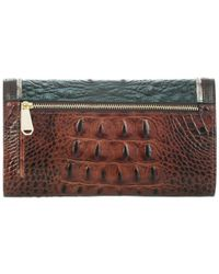 Brahmin - Multicolor Ivy Figaro Soft Checkbook Wallet - Lyst