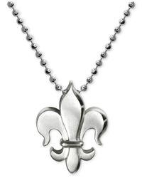 Alex Woo - Metallic Little Faith Fleur De Lis Pendant Necklace In Sterling Silver - Lyst