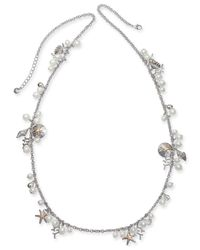 """Charter Club - Multicolor Two-tone Charm & Imitation Pearl Sea Life Strand Necklace, 40"""" + 2"""" Extender, Created For Macy's - Lyst"""