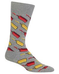 Hot Sox - Gray Men's Ketchup & Mustard Socks for Men - Lyst