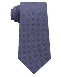 Michael Kors - Blue Men's Pin Dot Melange Silk Tie for Men - Lyst