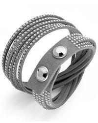 Swarovski | Gray Slake Crystal Wrap Bracelet | Lyst