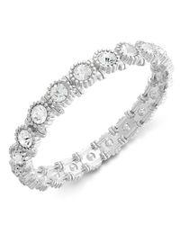 Charter Club | Metallic Silver-tone Crystal Stretch Bracelet | Lyst