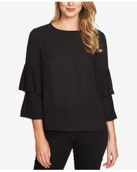 1.STATE | Black Tiered-sleeve Top | Lyst