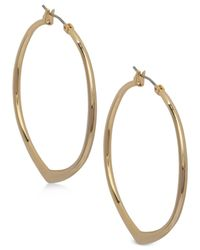 Vera Bradley - Metallic Pointed Hoop Earrings - Lyst