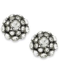 kate spade new york | Metallic Earrings, Antique Silver-tone Crystal Ball Stud Earrings | Lyst