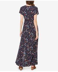 Sanctuary - Blue Coco Floral Print Maxi Dress - Lyst