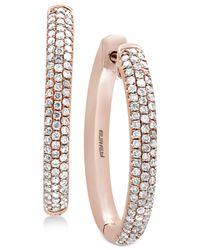 Effy Collection - Metallic Diamond Pavé Hoop Earrings (3/8 Ct. T.w.) In 14k Rose Gold - Lyst
