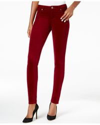 Kut From The Kloth - Red Skinny Corduroy Ankle Pants - Lyst