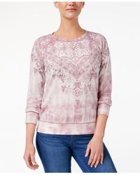 Style & Co. - Pink Tie-dyed Sweatshirt - Lyst