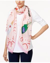 Kate Spade - Pink Fancy Party Scarf - Lyst