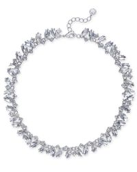 Charter Club | Metallic Silver-tone Marquise Crystal All-around Collar Necklace | Lyst