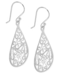 Giani Bernini - Metallic Filigree Teardrop Drop Earrings In Sterling Silver - Lyst