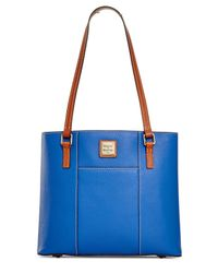 Dooney & Bourke   Blue Pebble Small Lexington Shopper   Lyst