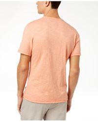 INC International Concepts - Orange Split-neck T-shirt, Created For Macy's for Men - Lyst