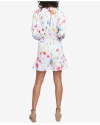 RACHEL Rachel Roy - Blue Ruffled Floral-print Romper, Created For Macy's - Lyst