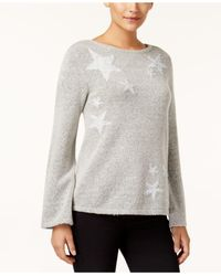 Style & Co. | Gray Tinsel Star Sweater | Lyst