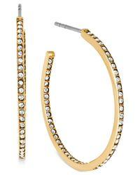 Michael Kors - Metallic Crystal Pavé Small Hoop Earrings - Lyst