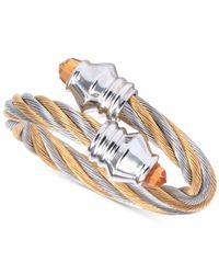 Charriol - Metallic Women's Fabulous Citrine-accent Two-tone Pvd Stainless Steel Cable Ring 02-821-1219-2 - Lyst