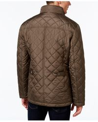 London Fog   Green Men's Quilted Jacket With Zip Inset for Men   Lyst