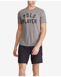 Polo Ralph Lauren - Gray Active-fit Performance T-shirt for Men - Lyst