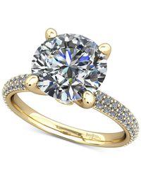 Macy's - Metallic Diamond Pavé Mount Setting (1/2 Ct. T.w.) In 14k Gold - Lyst