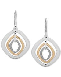 Nine West - Multicolor Tri-tone Orbital Drop Earrings - Lyst
