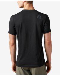 Reebok - Black Men's Graphic Cotton T-shirt for Men - Lyst