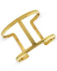 Vince Camuto - Metallic Bracelet, Gold-tone Openwork Cuff Bracelet - Lyst