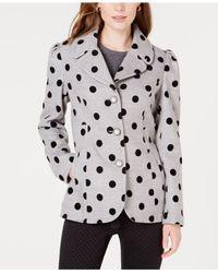 Maison Jules - Gray Polka-dot Jacket, Created For Macy's - Lyst