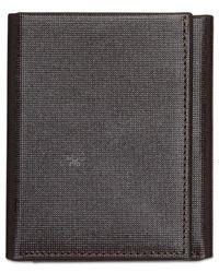 Perry Ellis - Brown Men's Portfolio Saffiano Rfid Trifold Wallet for Men - Lyst