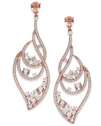 Danori - Metallic Crystal Cluster & Pavé Wavy Drop Earrings - Lyst