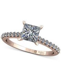 Macy's | Multicolor Diamond Cathedral Mount Setting (1/5 Ct. T.w.) In 14k Rose Gold | Lyst