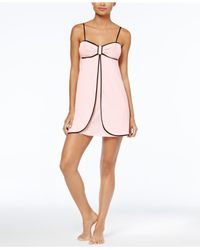 Kate Spade - Pink Contrast-trimmed Bow Chemise - Lyst